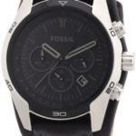 Fossil Herren-Armbanduhr Sport Leder schwarz Chronograph Quarz CH2586 B002VEDIB6