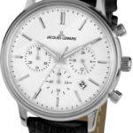 Jacques Lemans Unisex-Armbanduhr Nostalgie Chronograph Quarz Leder N-209A B00GN9QTDE