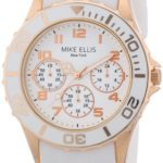 Mike Ellis New York Damen-Armbanduhr Analog Quarz Silikon S2703ARS B00DIR7CDK
