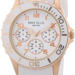 Mike Ellis New York Damen-Armbanduhr Analog Quarz Silikon S2703ARS B00DIR7CDK