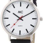 "MC Timetrend Herren-Armbanduhr ""Bahnhofsuhr"" Analog Quarz Leder 26153 B001IDYUWC"