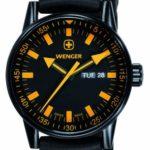Wenger Herren-Armbanduhr XL Commando Black Line Analog Quarz Silikon 70173 B003YOLTJU