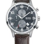 BOSS Herren-Armbanduhr Analog Quarz (One Size, schwarz) B00DVUFE48