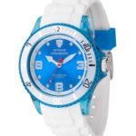 Detomaso Unisex-Armbanduhr COLORATO Blue Transparent Trend Analog Quarz Silikon DT2051-B B00KFD90US