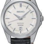 Seiko Damen-Armbanduhr XS Analog Quarz Leder SXDF55P2 B00FDU8D7Y