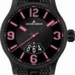 Jacques Lemans Unisex-Armbanduhr Sport Analog Quarz Kautschuk 1-1729F B0090XD1RC