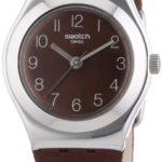 Swatch Damen-Armbanduhr XS Irony Terra Rossa Analog Quarz Leder YSS270 B00ES9WOZS