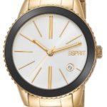 Esprit Damen-Armbanduhr XS Marin Halo Gold Analog Quarz Edelstahl ES105062006 B00FZMU1TI