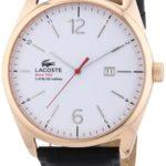 Lacoste Herren-Armbanduhr XL Analog Quarz Leder 2010681 B00ENWRTZU
