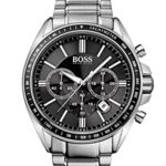 Hugo Boss Herren-Armbanduhr XL Driver Sport Chronograph Quarz Edelstahl 1513080 B00KXWZK78