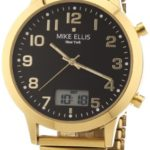 Mike Ellis New York Herren-Armbanduhr XS Analog – Digital Quarz Edelstahl beschichtet M2612AGM/2 B00DIR7PKU