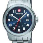Wenger Herren-Armbanduhr XL Field Classic Analog Quarz Edelstahl 01.0441.101 B009TNHJGM