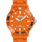 s.Oliver Unisex-Armbanduhr Medium Neon Orange Analog Quarz SO-2332-PQ B005N82CRI