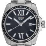 Esprit Herren-Armbanduhr XL Meridian Night Analog Quarz Edelstahl ES103601005 B00BNWKCAC
