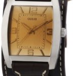 Guess Herren-Armbanduhr Mens Trend Analog Quarz Leder W0186G2 B00BLQZ3QS