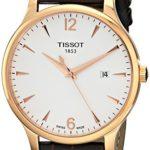 Tissot Herren-Armbanduhr XL Analog Quarz Leder T063.610.36.037.00 B009CTII54