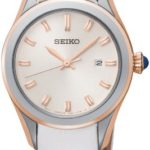 Seiko Damen-Armbanduhr XS Analog Quarz Leder SXDF70P1 B00FDU8GGM