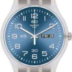 Swatch Unisex-Armbanduhr Classic Analog Quarz Leder SUOK701 B00ES9VW1K