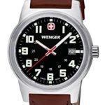 Wenger Herren-Armbanduhr XL Field Classic Analog Quarz Leder 72800W B00ENZXAG4
