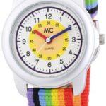 MC Timetrend Unisex-Armbanduhr Regenbogen Lernuhr Quarz Textil 50436 B00HZMIMRY