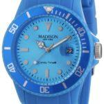 MDWJ5|#Madison New York Madison New York Unisex-Armbanduhr Candy Time Analog Silikon blau U4167-06/2 B005OVU07I