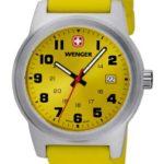 Wenger Unisex-Armbanduhr Field Classic Analog Silikon Gelb 010441113 B009ASK4N6