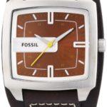 Fossil Herren-Armbanduhr Analog Leder braun Trend JR9990 B0024M88II