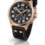 TW Steel Unisex-Armbanduhr Pilot Chronograph leder schwarz TW419 B00CJXMKVS