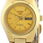 Seiko Damen-Armbanduhr XS Seiko 5 Analog Automatik Edelstahl beschichtet SYMC18K1 B000Z3Q34O