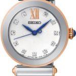 Seiko Damen-Armbanduhr XS Analog Quarz Edelstahl beschichtet SRZ400P1 B00F6SM496