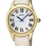 Seiko Damen-Armbanduhr XS Analog Quarz Leder SRZ384P2 B009RKHYEO