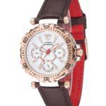 Detomaso Damen-Armbanduhr XS SPORTIVA Multifunction Rosegold/Brown Analog Quarz Leder DT3016-G B00IOQHDL6
