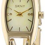 DKNY Damen-Armbanduhr Analog Quarz Edelstahl beschichtet NY8680 B008PQOWOG
