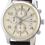 Guess Herren-Armbanduhr XL Exec Chronograph Quarz Leder W0076G2 B008YLC4EW