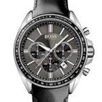 Hugo Boss Herren-Armbanduhr XL Chronograph Quarz Leder 1513085 B00KXWZDPW