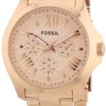 Fossil Damen-Armbanduhr Cecile Multifunktion Analog Quarz Edelstahl beschichtet AM4511 B00GZNO0UC