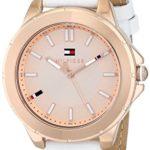 Tommy Hilfiger 1781432 KIMMIE Uhr Damenuhr Lederarmband Edelstahl 30m Analog weiss rosé B00KA5SGBK