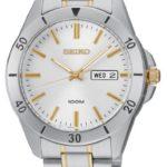 Seiko Damen-Armbanduhr Damenuhren Analog Quarz Edelstahl beschichtet SGGA81P1 B00BKW11X2