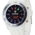 Detomaso Unisex-Armbanduhr SPACY TIMELINE Silicon White/Black Dial Digital Quarz Silikon DT2015-A B00AM7JW2S