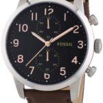 Fossil Herren-Armbanduhr XL Townsman Chronograph Quarz Leder FS4873 B00I9YEZYG