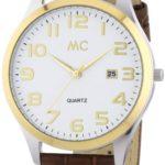 MC Timetrend Herren-Armbanduhr Analog Quarz Leder 27672 B00IMB4AOQ