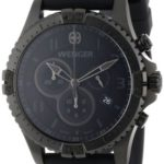 Wenger 77054 Mens Chronograph Black Silicon Strap Swiss Watch B0056Y89NU