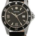 Wenger Damen-Armbanduhr sport elegance Analog Leder schwarz 70365 B004ZWQD6E