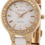 DKNY Damen-Armbanduhr XS Analog Quarz verschiedene Materialien NY8141 B004MRGOXO