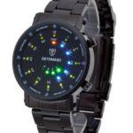 DeTomaso Trend Herren-Armbanduhr XL Spacy Timeline Rund Schwarz Digital Edelstahl beschichtet G-30730B B0060TX1S8