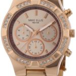 Mike Ellis New York Damen-Armbanduhr Analog Quarz Edelstahl beschichtet L2698ARM B00DNTKXES