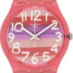 Swatch Damen-Armbanduhr XS Astilbe Analog Quarz Plastik GP140 B00ELLYARI