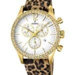 Festina Damen-Armbanduhr Dreamtime Chronograph Quarz Leder F16605/5 B009GEUC22
