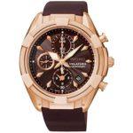 Seiko Damen-Armbanduhr Chronograph Quarz Leder SNDW54P1 B00MCBEYI4