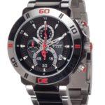 Detomaso Herren-Armbanduhr XL  TIAGO Red DT2009-C Trend Chronograph Quarz Edelstahl DT2009-C B00ADEOLUS